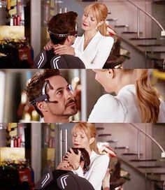 Tony Stark and Pepper Potts, Iron Man 3. I think this is one of the sweetest moments in all three movies