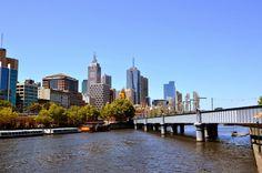 Downtown Melbourne in Australia