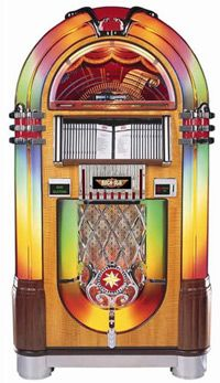 View our catalog of New Rock-Ola Jukeboxes. National Jukebox Exchange is an authorized Rock-Ola Dealer. Sound Of Music, Music Tv, Kinds Of Music, Jukebox, Rock And Roll, Retro Record Player, Record Players, Disneyland, Radios