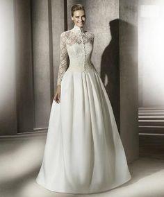 Самое красивое закрытое свадебное платье