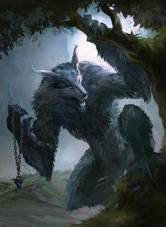 ArtStation - Lost Ones - Werewolf, Matt Forsyth Dark Fantasy Art, High Fantasy, Fantasy Artwork, Artwork Lobo, Wolf Artwork, Fantasy Monster, Monster Art, Wolf Hybrid, Werewolf Art