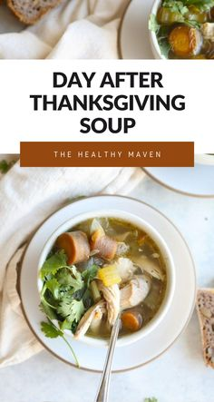 Save that leftover turkey carcass and enjoy every last scrap from Thanksgiving with this delicious turkey carcass soup. Paired with hearty grains, beans and veggies, this turkey soup is the perfect day-after Thanksgiving meal the whole family can enjoy!