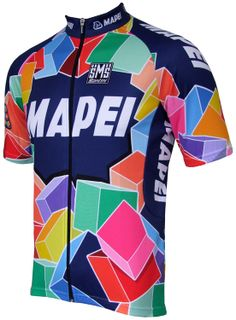 Mapei Retro Jersey - Short Sleeve Full Zip (75cm) Cycling Wear 97d81f827
