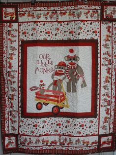 Free Monkey Applique Quilt Patterns | ... show and tell: Sock ... : sock monkey quilt kit - Adamdwight.com