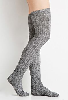 Marled Over-the-Knee Socks from Forever Saved to Socks & Shoes (≖︿≖✿). Shop more products from Forever 21 on Wanelo. Thigh High Socks, Knee Socks, Bustiers, Wool Tights, Mens Tights, Tall Socks, Quality Lingerie, Bodysuit, Lingerie Collection