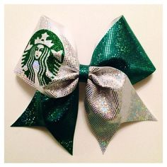 Starbucks Cheer Bow ❤ liked on Polyvore featuring hair accessories