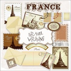 Freebies Travel France Elements Kit