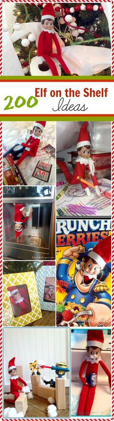 200 Easy Elf on the Shelf Ideas - Raining Hot Coupons - Buddy The Elf Christmas Elf, All Things Christmas, Winter Christmas, Xmas, Christmas Ideas, Christmas Activities, Christmas Inspiration, Holiday Fun, Holiday Crafts