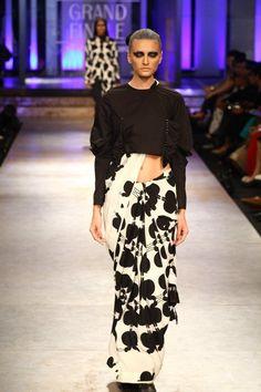 Concept - blouse over sari ... Kallol Datta 1955 - Lakme Fashion Week Winter/Festive 2012 Grand Finale