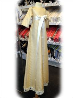 Modern christening gown that follows old traditions