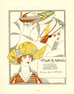 Fernand Simeon, Les Feuillets d'Art magazine, Verlaine Advertisement, Art Deco Wall Art, Art Deco Print, Posters Vintage, Art Deco Posters, Fine Art Prints, Framed Prints, Canvas Prints, Vintage Postcards, Vintage Ads