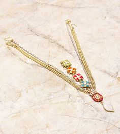 PHOOLJHADI - Multicoloured Embellished Maang Tikka Click on the photo to shop this product! :)