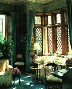 Living Room Green, Sticks, Envy, Oversized Mirror, Emerald, Walls, Fairy, Cottage, Bright