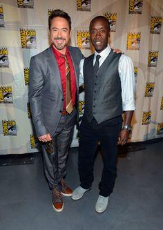 Robert Downey Jr. y Don Cheadle / Comic-Con 2012