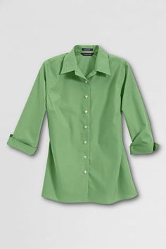 Women's 3/4-sleeve Broadcloth Blouse from Lands' End