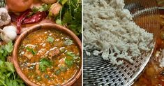 Soup Kharcho | My favorite recipes Sour Plum, Georgian Cuisine, Rice Ingredients, Beef And Rice, Main Meals, Tasty Dishes, Palak Paneer, Soups And Stews, Spicy