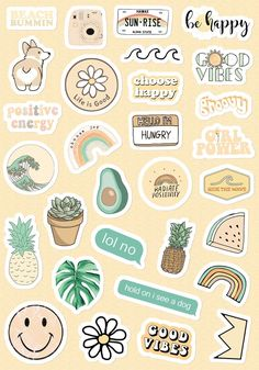 Small & Large Aesthetic Stickers for Phone Case (1*1 Inc) Stickers for Laptop for Bottle (2*2 Inc) 30 PCs