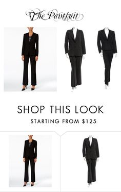 """The Pantsuit"" by officialrt ❤ liked on Polyvore featuring Tahari by Arthur S. Levine, D&G and Yves Saint Laurent"