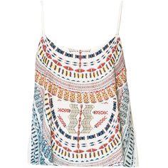 Zara Printed Backless Tank Top (1.750 RUB) ❤ liked on Polyvore featuring tops, tank tops, shirts, tanks, blusas, white singlet, white backless shirt, white tank, zara top and zara shirts