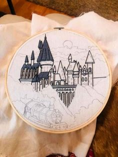 Diy Embroidery Patterns, Simple Embroidery, Hand Embroidery Patterns, Cross Stitching, Cross Stitch Embroidery, Sewing Crafts, Sewing Projects, Crochet, Harry Potter