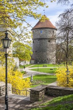 a tower in the medieval wall called Neitsitorn, Tallinn, Estonia