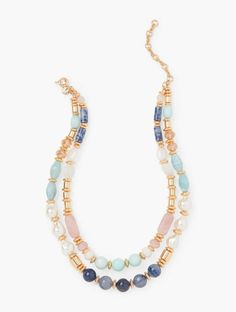 Shop Talbots for modern classic women's styles. You'll be a standout in our Double Strand Mixed Bead Necklace - only at Talbots!