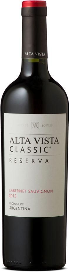 Alta Vista Classic Reserva Cabernet Sauvignon is intense with red fruit aromas and spicy notes, sweet tannins and a long finish. Great value Aregentinian wine! Wine Merchant, Cherry Tart, Red Fruit, Grilled Meat, Cabernet Sauvignon, Red Wine, Alcoholic Drinks, Bottle, Classic
