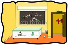 Vector illustration: a Happy New Year card for Christmas time