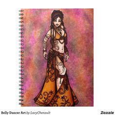 Belly Dancer Art Note Book