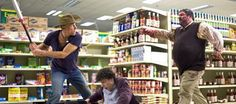 Woody Harrelson stars as Tallahassee and Jesse Eisenberg stars as Columbus in Columbia Pictures' Zombieland - Movie still no 3 Top 10 Halloween Movies, Best Zombie Movies, Best Horror Movies, Great Movies, Awesome Movies, Funny Movies, Horror Films, Zombieland Movie, Movie Drinking Games