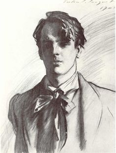 "Drawing of Yeats by John Singer Sargent, 1908 ""Sketch everything and keep your curiosity fresh"". John Singer Sargent ..."