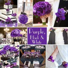 purple black wedding ideas | Purple, Black & White wedding ideas. | Purple Themed Wedding