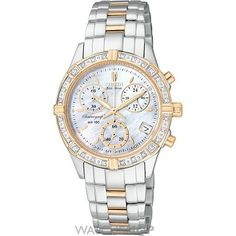 Ladies Citizen Miramar Chronograph Diamond Eco-Drive Watch FB1184-55D