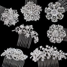 Stylish and affordable crystal hair combs, perfect for adding that finishing touch to your dressy hairstyle!  http://giavan.com/collections/bridal-hair-combs