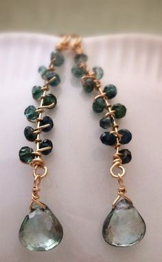 Faceted Tourmaline 14k Gold Fill Wire Wrapped