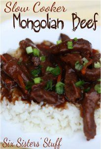 Must-Try Mongolian Beef - An out-of-this-world slow cooker Chinese food recipe. This slow cooker beef recipe is easy to prepare.