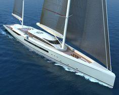 80m SY 'MANTIS' | Ken Freivokh Design