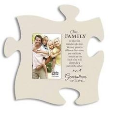 P Graham Dunn Puzzle Piece Generations of Love Ivory Family Picture Frame   eBay