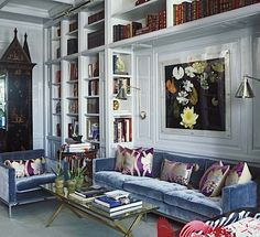 A room that catches your interest - like the blue sofa and chair