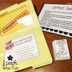 Tips and Tricks for Working on Context Clues in Speech! - Speech Time Fun