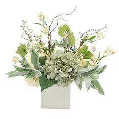 Artificial Hydrangea Flowers, Artificial Flower Arrangements, Artificial Plants, Silk Flowers, Hydrangea Arrangements, Floral Centerpieces, Curly Willow Centerpieces, Table Centerpieces, Kitchenette
