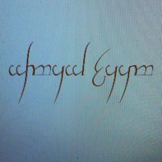 Tatoeage in Elvish <3