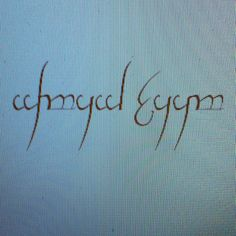 Tatoeage in Elvish <3
