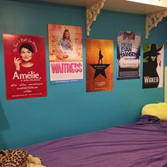 my dream bedroom, except I would have posters of the Phantom of the Opera, Les Mis, Newsies, Singin' in the Rain, Wicked, and Anastasia.