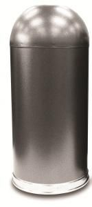 15 Gallon Silver Vein Granite Metal Open Dome Top Trash Can - outdoor & indoor trash cans, recycle bins, & ashtrays for commercial, office or home. Trash Containers, Trash Bins, Kitchen Trash Cans, Granite Colors, Stainless Steel Refrigerator, Garbage Can, Recycling Bins, Galvanized Steel, Indoor