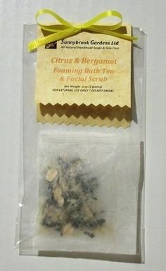 Citrus Bergamot Foaming Bath Tea and Facial Scrub