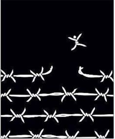 breaking free / barbed wire / digital illustration / black and white Political Art, Break Free, Grafik Design, Art Journals, Digital Illustration, Artsy, Words, Drawings, Prints