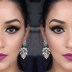 +  = @_farahpasha ~ a very feminine yet quite a statement lip color perfected with neutral #eyemakeup, only finalize it with our #falsie style #GLM12. Link to product ➡️ www.shopeyemimo.com/falseeyelashes-glm12
