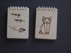 bloc-notes origami cat par MurmuresdesBois sur Etsy