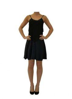 Black Tiered Shoe-String Dress,  Dress, tiered dress  beaded neckline  black  sleeveless, Chic  #black #blackdress #shoestringdress #sleeveless #tiereddress #littleblackdress #cocktaildress #casual #classy #chic #beadedneckline